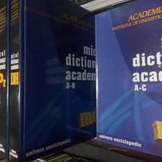 MICUL DICTIONAR ACADEMIC - 4 VOLUME - Academia Romana / Univers Enciclopedic - DEX