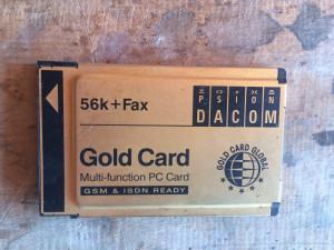 modem PCMCIA - Gold card -
