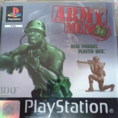 Vand jocuri ps1 colectie, ARMY MEN 3D, playstation 1 - Joc PS1 Ubisoft, Shooting, Single player, 16+