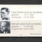 Germania.2007 Drept si democratie SG.1285 - Timbre straine, Nestampilat