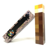 Torta Minecraft Light-Up Torch - 30 cm + CADOU Bratara Minecraft !!!