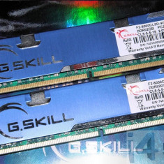 Kit G-skill 4 GB DDr2 1000 Mhz 2*2GB 4096MB PC2-8000 F2-8000CL5D-4GBPQ, DDR 2, Dual channel, G.Skill