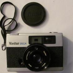 GE - Aparat foto film VIVITAR 35CA blit BAUER E 160 + husa functional Japonia - Aparat de Colectie