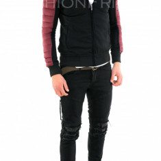 Geaca de toamna neagra - geaca slim fit - geaca fashion - 7871 - Geaca barbati, Marime: S, M, L, Culoare: Din imagine