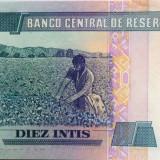 Bancnota 10 Intis - PERU, 1987 UNC cod 430
