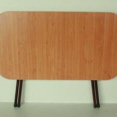 Masa pliabila din lemn cu cadru metalic 60 x 90 cm