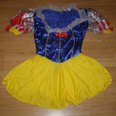 Costum carnaval serbare alba ca zapada pentru adulti marime S - Costum Halloween, Marime: Masura unica, Culoare: Din imagine
