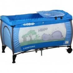 Patut pliabil pentru copii-Caretero MEDIO Safari PCMS3-A - Patut pliant bebelusi