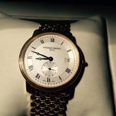 Ceas de mana, barbatesc/barbati, marca Frederique Constant otel placat cu aur - Ceas barbatesc, Quartz