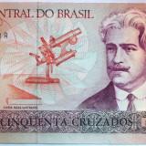 Bancnota 50 Cruzados - BRAZILIA, anul 1986 *cod 428 UNC