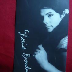 Fotografie a Actritei Gloria Bordea cu Autograf tiparit