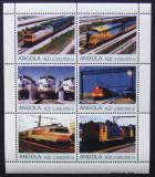 ANGOLA 2000 - LOCOMOTIVE, 1 M/SH NEOBLITERATA, POSTA PRIVATA - PP 1345