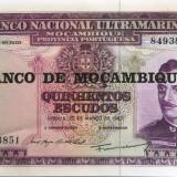 Bancnota 500 Escudos - MOZAMBIC/Portugalia, anul 1967  *cod 433 UNC