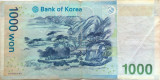 Bancnota 1000 Won - Coreea de Sud, anul 1997? *Cod 422