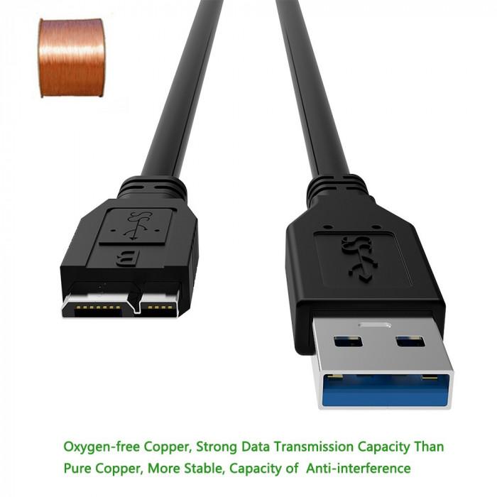 Cablu USB 3.0 Type A tata la Micro USB 3.0 Type B tata