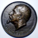 5.214 MEDALIE BELGIA CONGO BARON EMPAIN CAI FERATE 1952 R. CLIQUET 70mm/149g, Africa