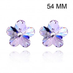 Cercei Swarovski Elements Purple Flower