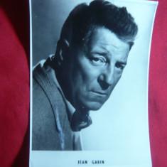 Fotografie a Actorului Jean Gabin, dim.= 8, 5x11, 5 cm - Autograf