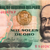 Bancnota 1000 Soles de Oro - PERU,  anul 1981 xF cod 429