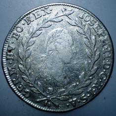 A.467 AUSTRIA JOSEPH II 20 KREUZER 1787 B ARGINT 6, 5g - Moneda Medievala, Europa