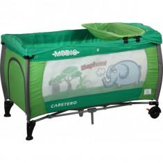 Patut pliabil pentru copii-Caretero MEDIO Safari PCMS3-V - Patut pliant bebelusi