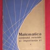 Matematica : continutul, metodele si importanta ei Vol. 1 - Carte Matematica