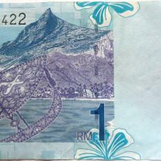 Bancnota 1 Ringgit - MALAEZIA, anul 1995?  *Cod 419 xF