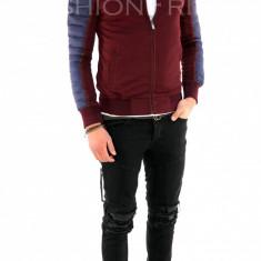 Geaca de toamna grena- geaca slim fit - geaca fashion - 7870 - Geaca barbati, Marime: M, L, XL, Culoare: Din imagine