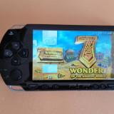 Consola PSP Sony 1000 MODATA PSP Sony SLIM MODAT Card 8 GB + 96 Jocuri Pe Carduri + HUSA