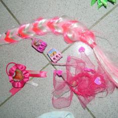 Set 5 accesorii par Frozen. MLP 2 elastice par, 2 clame, coada par artificial - Clama de par Copii