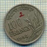 9297 MONEDA- FRANTA - 100 FRANCS -anul 1954 B -starea care se vede, Europa