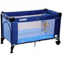 Patut pliabil pentru copii-Caretero SIMPLO PCS1-A - Patut pliant bebelusi