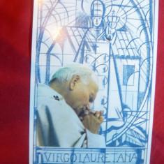 Fotografia Papei Ioan Paul II - Suvenir religios cu autograf si dedicatie 1995