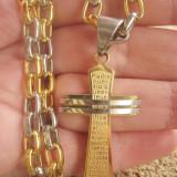 Lant  + medalion  inox placat = 60 ron