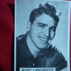 Fotografie a Actorului Burt Lancaster dim.= 8, 5x11, 5 cm - Autograf