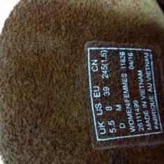 Botine Clarks desert boot beeswax - Botine dama Clarks, Culoare: Maro, Marime: 37.5