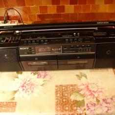 Radio casetofon vintage SONY CFS-DW50L HiFi BoomBox MegaBass FM/UM/UL/US /Aux, 0-40 W