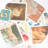 Pachet 100 timbre diferite Romania, stampilate