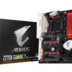 Placa de baza GIGABYTE Socket LGA1151, Z270X-Gaming 7, Z270, Integrated in CPU + PCI-E 3.0 x16, DX12, 1*DP/1*HDMI, 3*PCI-e x1, 6*SATAIII, bulk, Altul, ATX
