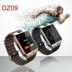 Smartwatch DZ09 ceas telefon cartela sim camera FOTO, Alte materiale, 42mm, Argintiu, Android Wear