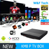 Smart TV Box PC Media Player KM8P 4K Amlogic S912 Octa Core 64bit Android 7