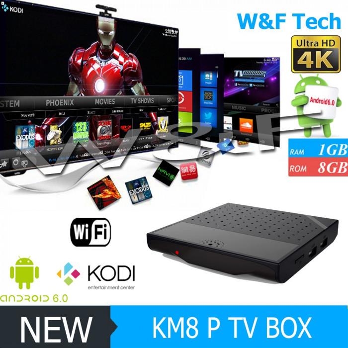 Smart TV Box PC Media Player KM8P 4K Amlogic S912 Octa Core 64bit Android 7