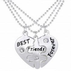 Pandantiv Colier Lantisor Medalion - BFF BEST Friend FRIENDS puzzle (SET 3 BUC)