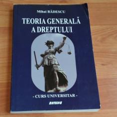 TEORIA GENERALA A DREPTULUI-MIHAI BADESCU - Carte Teoria dreptului