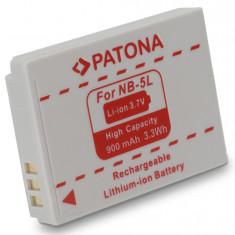 1 PATONA | Acumulator compatibil CANON NB-5L NB5L NB 5L | 900 mAh - Baterie Aparat foto PATONA, Dedicat