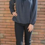 Pantalon fashion culoare bleumarin, model casual, masura mare (Culoare: BLEUMARIN, Marime: 44)