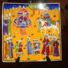Farfurie decorativa ceramica Iznik pictata de Ibrahim Erdeyer - Arta Ceramica