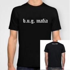 Tricou BUG Mafia hip hop rap Caddilac, Uzzi, Tataee - Tricou barbati, Marime: S, M, L, XL, XXL, Culoare: Alb, Negru, Maneca scurta