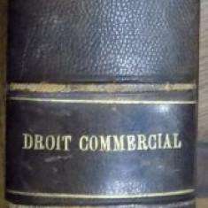 TRAITE ELEMENTAIRE DE DROIT COMMERCIAL A L ' EXCLUSION DU DROIT MARITIME par E. THALLER, 1910