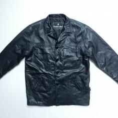 Haina piele naturala Leather Man Genuine Leather; marime 56, vezi dim.; ca noua - Geaca barbati, Culoare: Din imagine